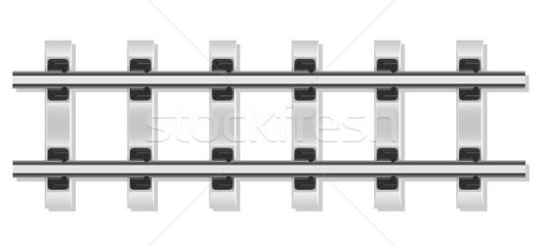 railway rails and concrete sleepers vector illustration Stock photo © konturvid
