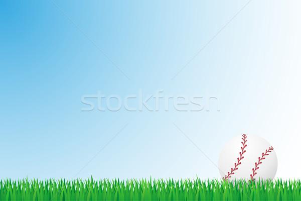 бейсбольной травой поле изолированный домой фон области Сток-фото © konturvid