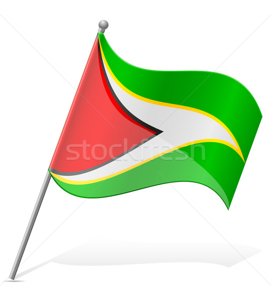 flag of Guyana vector illustration Stock photo © konturvid
