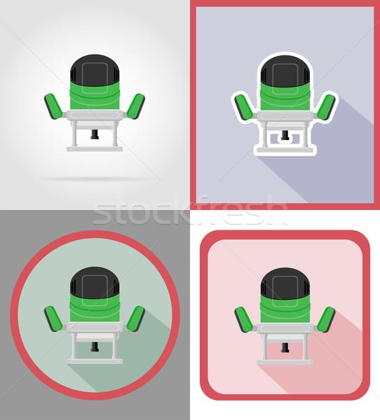 Elektryczne młyn narzędzia budowy naprawy ikona Zdjęcia stock © konturvid