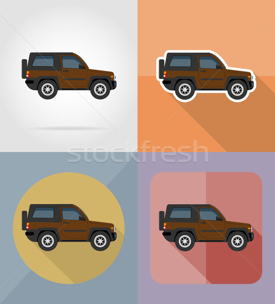 suv transport flat icons vector illustration Stock photo © konturvid