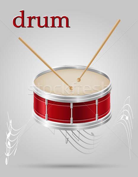 drum musical instruments stock vector illustration Stock photo © konturvid