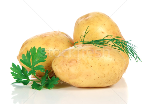 fresh raw potatoes Stock photo © konturvid