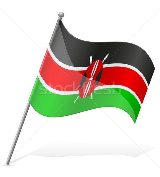 Stock photo: flag of Kenya vector illustration