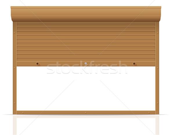 ブラウン 孤立した 白 抽象的な ドア ストックフォト © konturvid