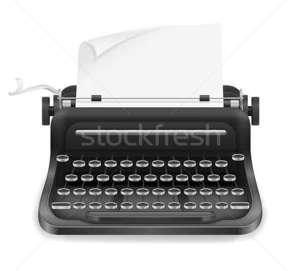 typewriter old retro vintage icon stock vector illustration Stock photo © konturvid