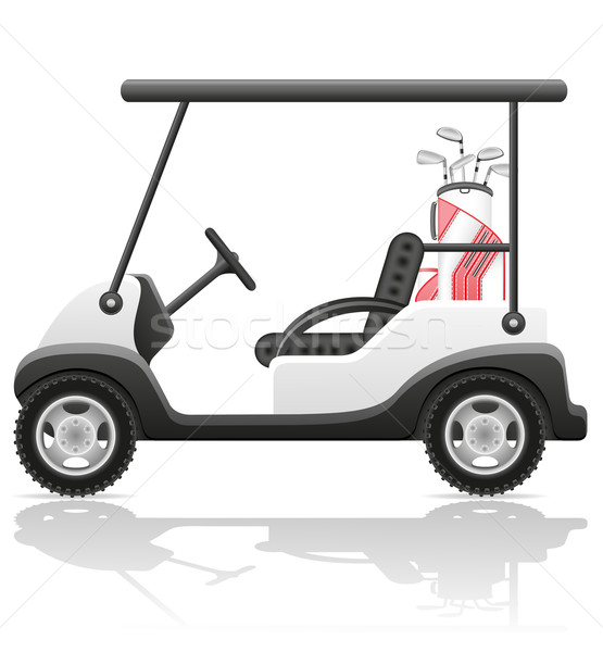 golf car vector illustration Stock photo © konturvid