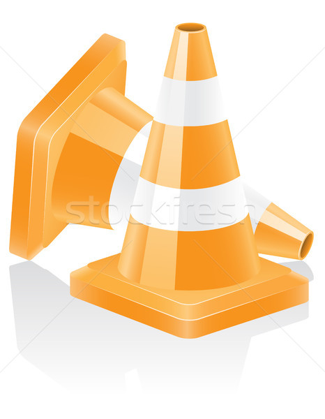 icon traffic cone vector illustration Stock photo © konturvid