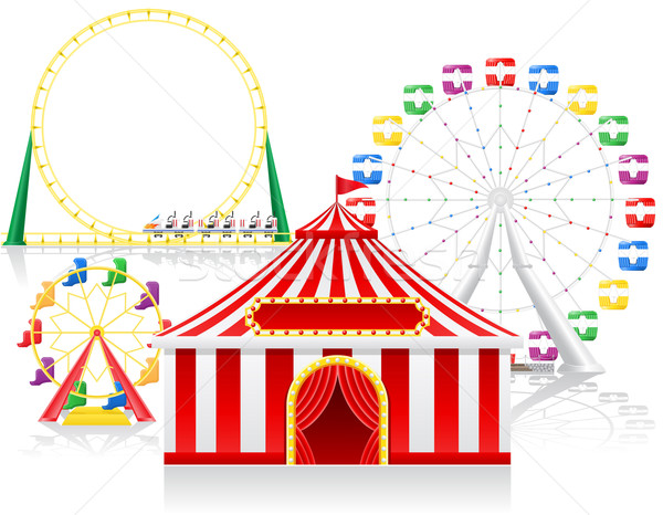circus tent and attractions vector illustration Stock photo © konturvid
