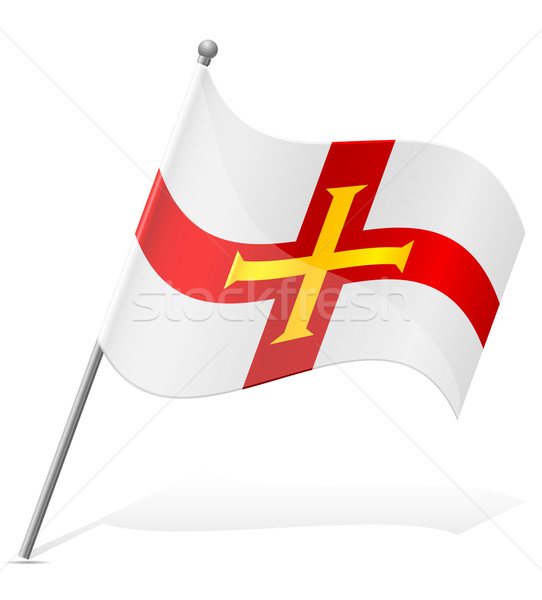flag of Guernsey vector illustration Stock photo © konturvid