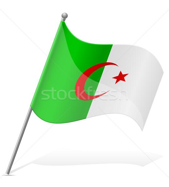 Bandeira isolado branco globo mundo terra Foto stock © konturvid