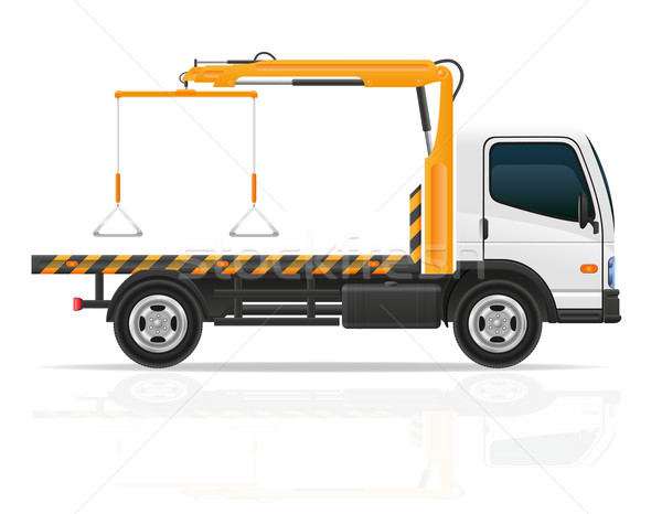 tow truck for transportation faults and emergency cars vector il Stock photo © konturvid