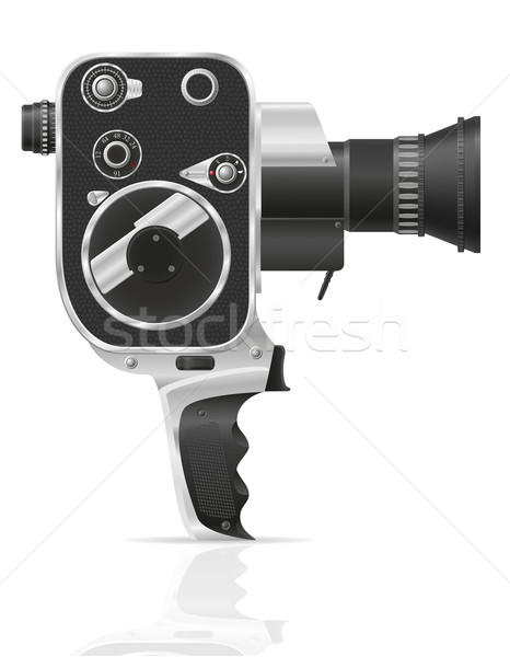 old retro vintage movie video camera vector illustration Stock photo © konturvid