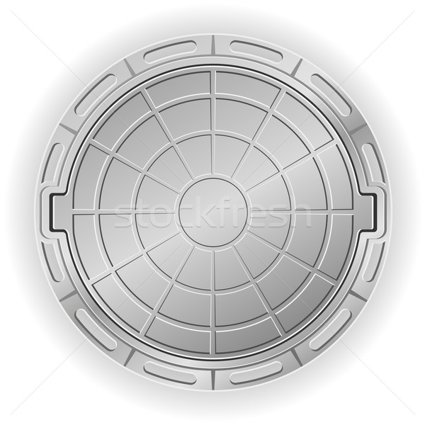 closed manhole vector illustration Stock photo © konturvid