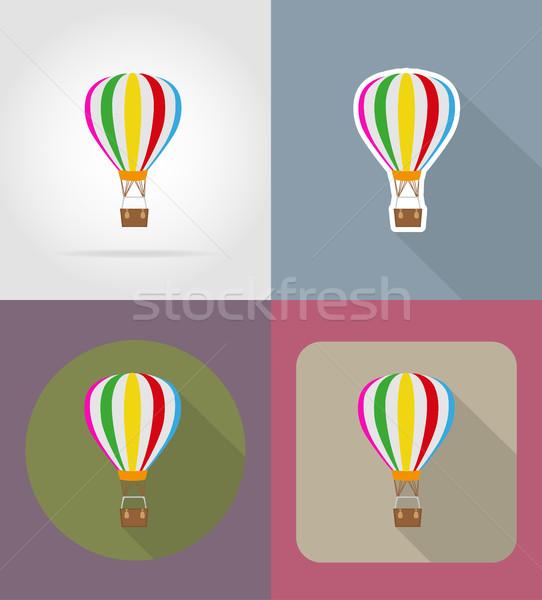 air balloon flat icons vector illustration Stock photo © konturvid