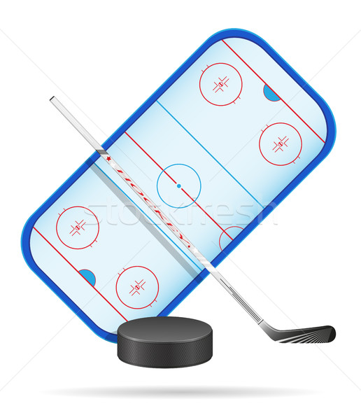 hockey stadium vector illustration Stock photo © konturvid