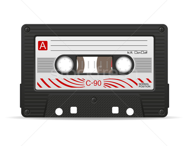 audio cassette vector illustration Stock photo © konturvid
