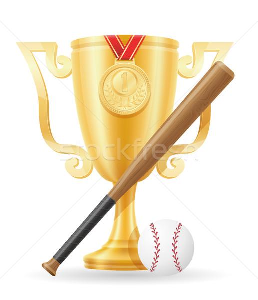 Stock photo: baseball cup winner gold stock vector illustration