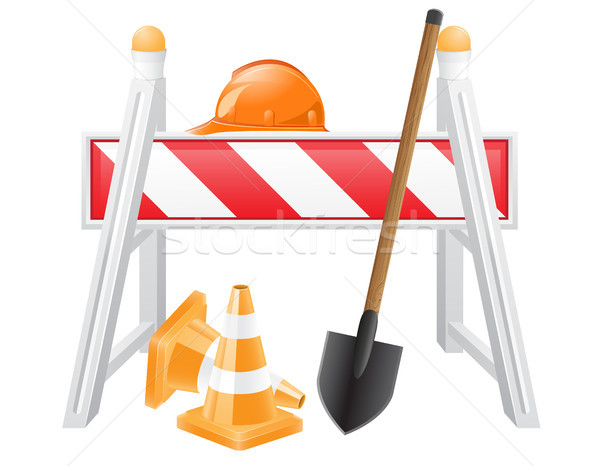objects for road works vector illustration Stock photo © konturvid