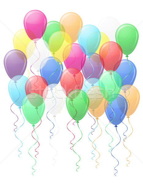 colored transparent balloons vector illustration EPS10 Stock photo © konturvid