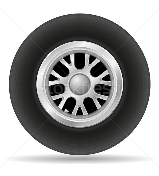 wheel for racing car vector illustration EPS 10 Stock photo © konturvid