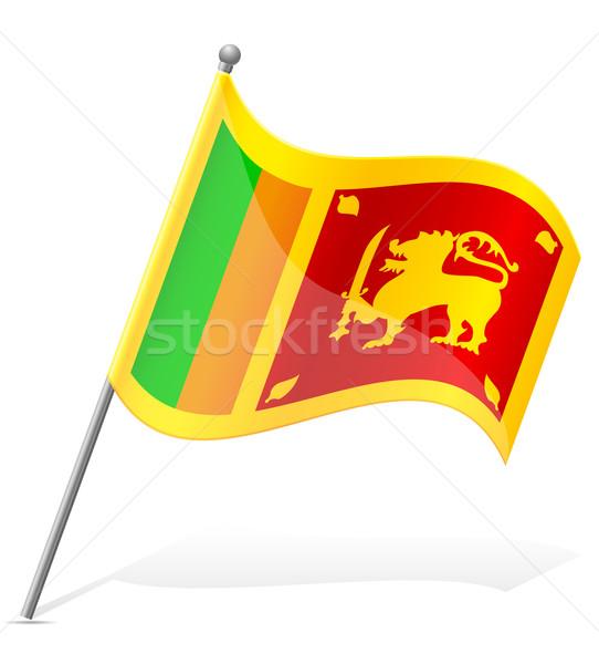 flag of Sri Lanka vector illustration Stock photo © konturvid