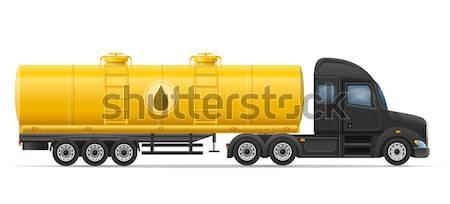 Tırtıl traktör yalıtılmış beyaz arka plan alan Stok fotoğraf © konturvid