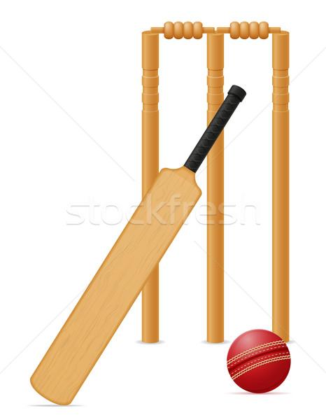Kriket bat top yalıtılmış beyaz Stok fotoğraf © konturvid