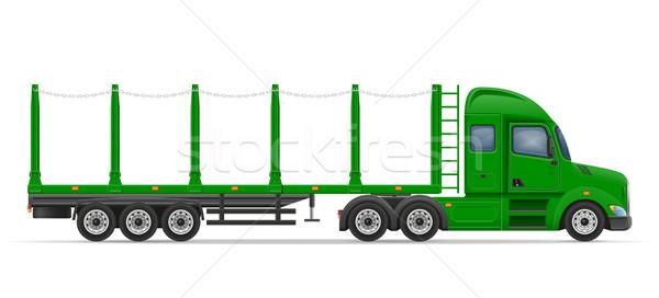 Caminhão transporte bens vetor isolado branco Foto stock © konturvid