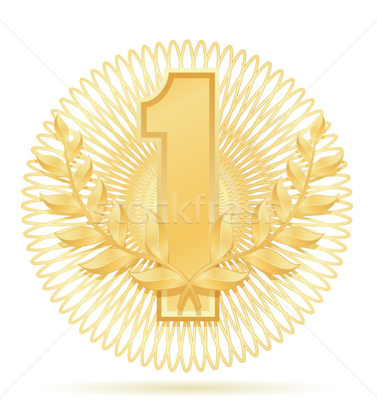 laureate wreath winner sport gold stock vector illustration Stock photo © konturvid