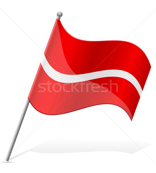 Vlag Letland geïsoleerd witte wereld schilderij Stockfoto © konturvid
