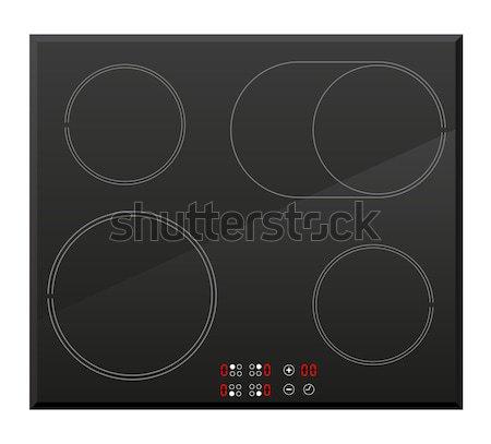Superficie eléctrica estufa aislado blanco alimentos Foto stock © konturvid