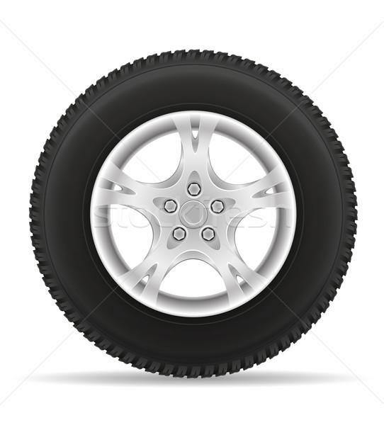 car wheel tire from the disk vector illustration Stock photo © konturvid