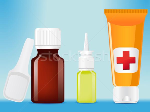 Tıbbi şişeler örnek şişe konteyner eczane Stok fotoğraf © konturvid