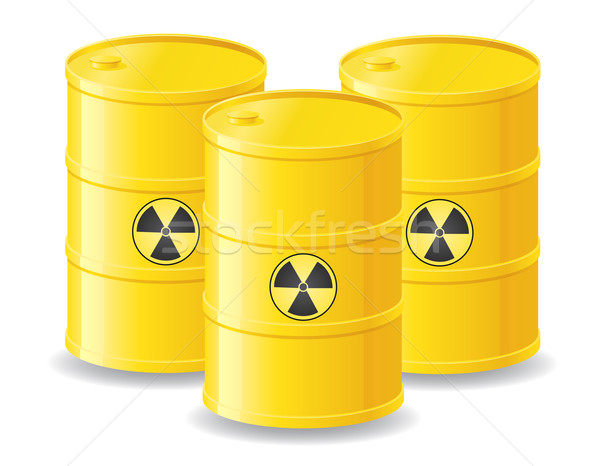 yellow barrels of radioactive waste vector illustration Stock photo © konturvid