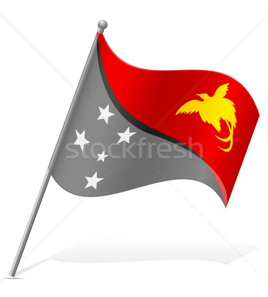 Bandera Papua Nueva Guinea aislado blanco mundo mundo Foto stock © konturvid