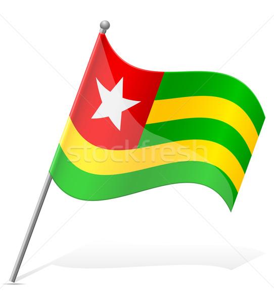 Bandeira Togo isolado branco globo mundo Foto stock © konturvid
