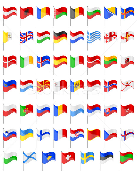 flags of European countries vector illustration Stock photo © konturvid