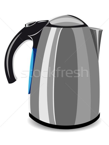 Сток-фото: электрических · чайник · иллюстрация · изолированный · белый · технологий