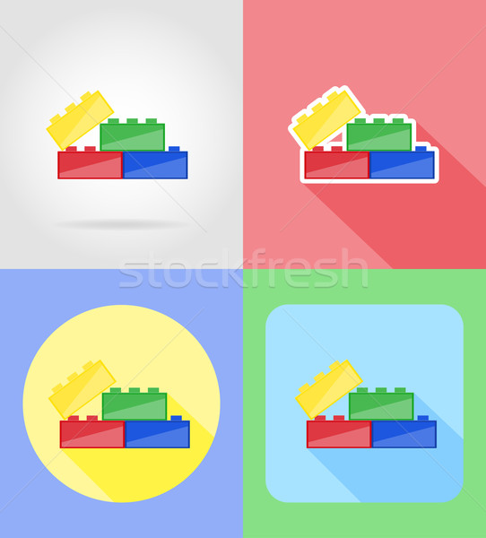 baby toys and accessories flat icons vector illustration Stock photo © konturvid
