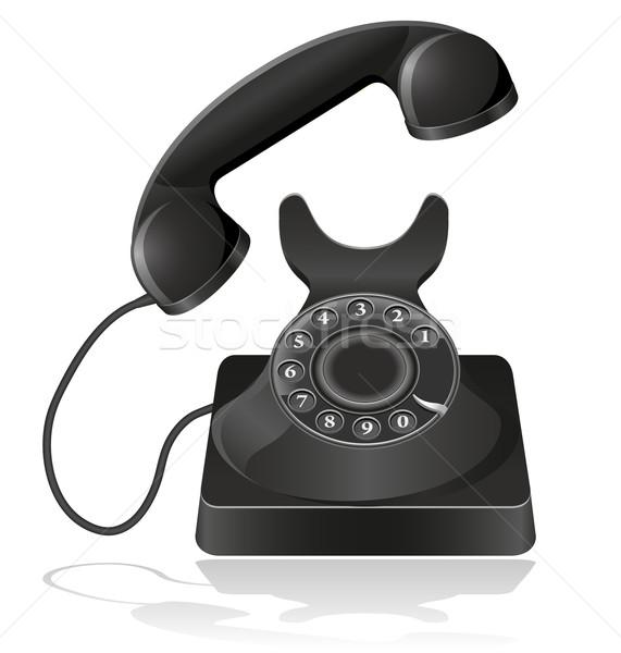 Edad teléfono aislado blanco teléfono fondo Foto stock © konturvid