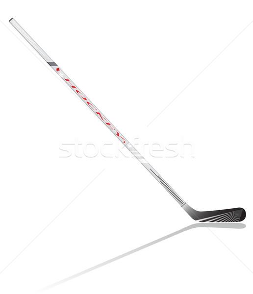 hockey stick vector illustration Stock photo © konturvid
