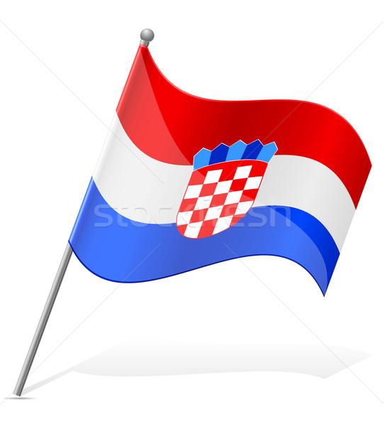 Bandera Croacia aislado blanco mundo pintura Foto stock © konturvid