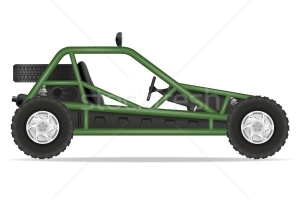 atv car buggy off roads vector illustration Stock photo © konturvid