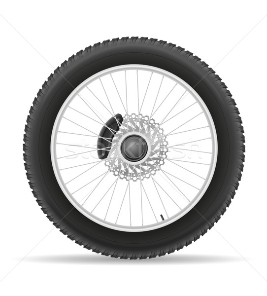 motorcycle wheel tire from the disk vector illustration Stock photo © konturvid