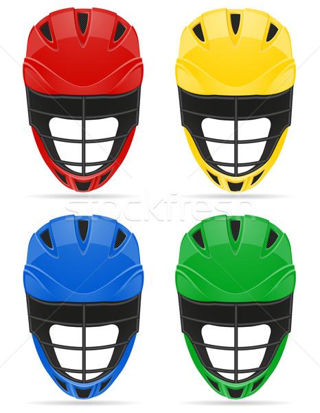 lacrosse helmets vector illustration Stock photo © konturvid