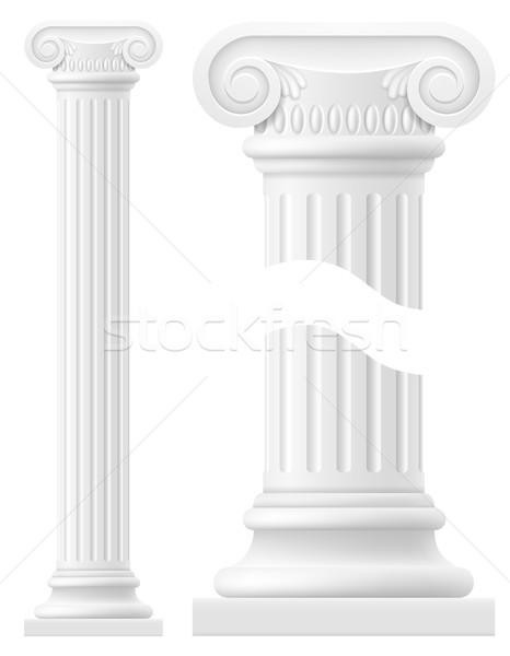 antique column stock vector illustration Stock photo © konturvid