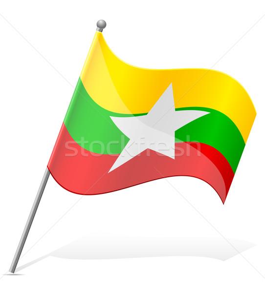 flag of Myanmar vector illustration Stock photo © konturvid