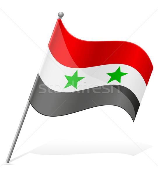 Bandeira Síria isolado branco mundo terra Foto stock © konturvid