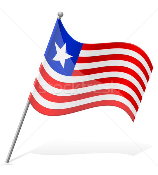flag of Liberia vector illustration Stock photo © konturvid